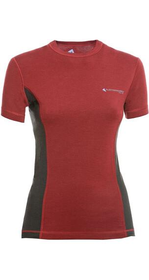 Klättermusen W's Gimle T-shirt Burnt Russet/Charcoal
